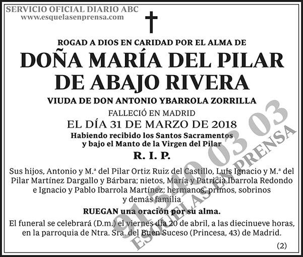 María del Pilar de Abajo Rivera